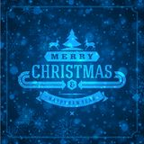 Christmas retro typography and light with Royalty Free Stock Photos
