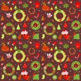 Christmas retro wallpaper Stock Images