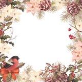 Christmas retro watercolor decorative composition Royalty Free Stock Photo