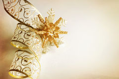 Christmas Ribbon. Beautiful Christmas Decoration.With copy-space royalty free stock photos