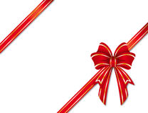Christmas ribbon Stock Image