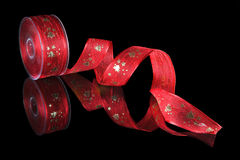 Christmas ribbon Stock Images