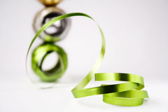 Christmas ribbon. Colorful christmas ribbon for making beautiful gift covers Stock Photography