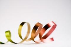 Christmas ribbon Stock Photos