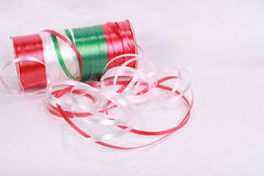 Christmas ribbon 2. Christmas ribbon red white and green stock images