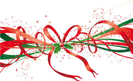 Christmas ribbon stock illustration