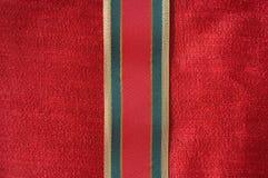 Christmas ribbon background Stock Image