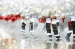 Christmas ribbon background Royalty Free Stock Image