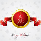 Christmas ribbon card Royalty Free Stock Photography