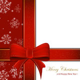 Christmas ribbon on a clean background Royalty Free Stock Photography