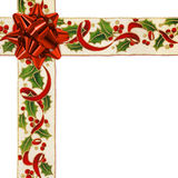Christmas ribbon crossed Royalty Free Stock Images