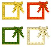 Christmas Ribbon Frame Stock Images