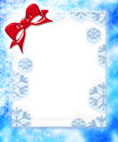 Christmas Ribbon Frame. Large digital made christmas ribbon frame Stock Illustration