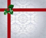 Christmas Ribbon and Holly Royalty Free Stock Photography