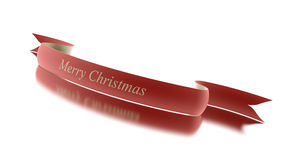Christmas ribbon red isolated Royalty Free Stock Images
