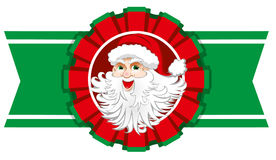 Christmas ribbon with santa claus Royalty Free Stock Photos