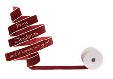Christmas ribbon tree Stock Photo