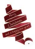 Christmas ribbon tree Royalty Free Stock Image