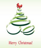 Christmas ribbon tree Royalty Free Stock Photography