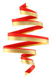 Christmas ribbon tree Stock Images