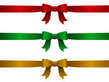 Christmas Ribbons. A set of three ribbons in a Christmas color scheme