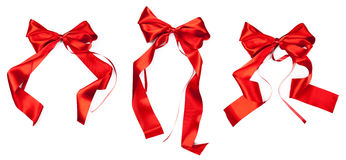 Christmas ribbons Stock Photo