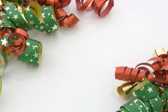 Christmas ribbons Royalty Free Stock Images
