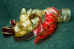 Christmas Ribbons Stock Photos