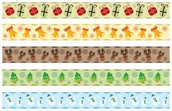 Christmas ribbons Stock Photos