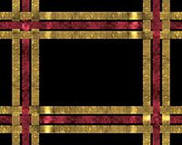 Christmas ribbons background on black Royalty Free Stock Photo
