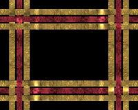 Christmas ribbons background on black Royalty Free Stock Photo