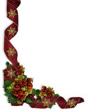 Christmas Ribbons and baubles Border Stock Photography