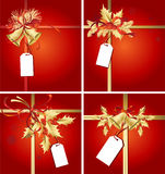 Christmas Ribbons, Bells & Tags Royalty Free Stock Image