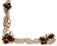 Christmas Ribbons border Stock Photo