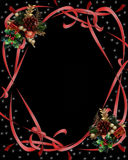 Christmas Ribbons Border on black Royalty Free Stock Photography