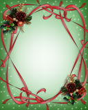 Christmas Ribbons Border green Royalty Free Stock Photography