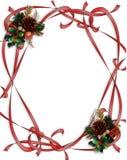 Christmas Ribbons Border Illustration Stock Photography