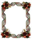 Christmas Ribbons frame Royalty Free Stock Photos