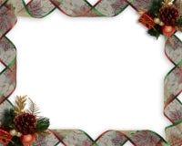Christmas Ribbons frame or border vector illustration