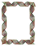 Christmas Ribbons frame or border Stock Photography