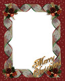 Christmas Ribbons frame border Stock Images