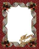 Christmas Ribbons frame border Stock Images