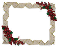 Christmas Ribbons frame or border Stock Image