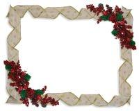 Christmas Ribbons frame or border Stock Image
