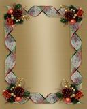 Christmas Ribbons frame gold satin Royalty Free Stock Photography