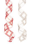 Christmas ribbons hanging Royalty Free Stock Images