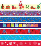 Christmas ribbons set Stock Image