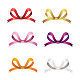 Christmas Ribbons Set Stock Photo