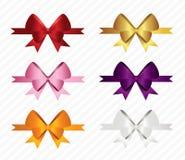 Christmas Ribbons Set Royalty Free Stock Photos