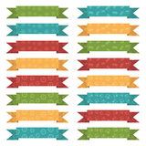 Christmas ribbons Stock Images